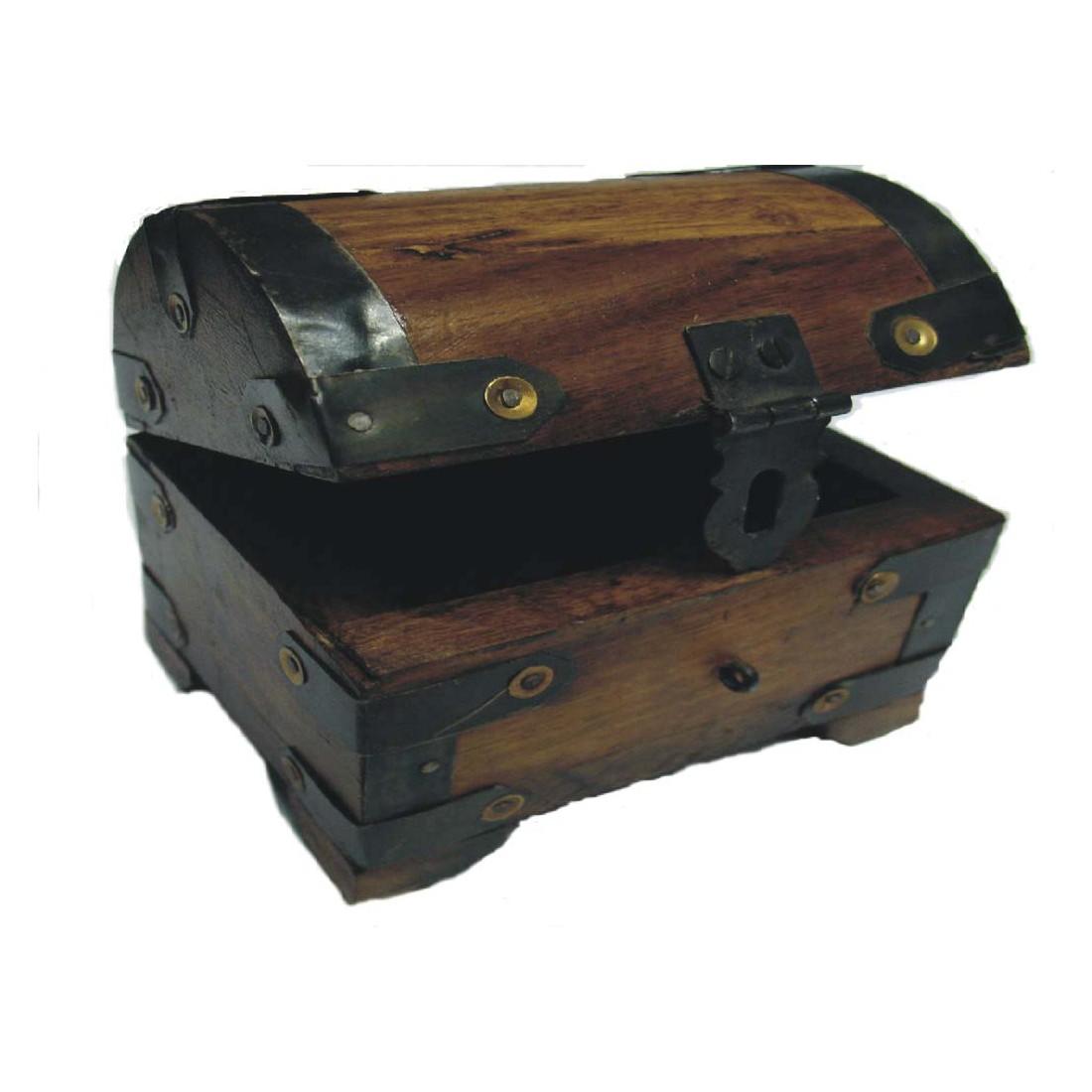 Bestsaller schatztruhe bauernkasse klein aus holz for Kleine schreibtische aus holz