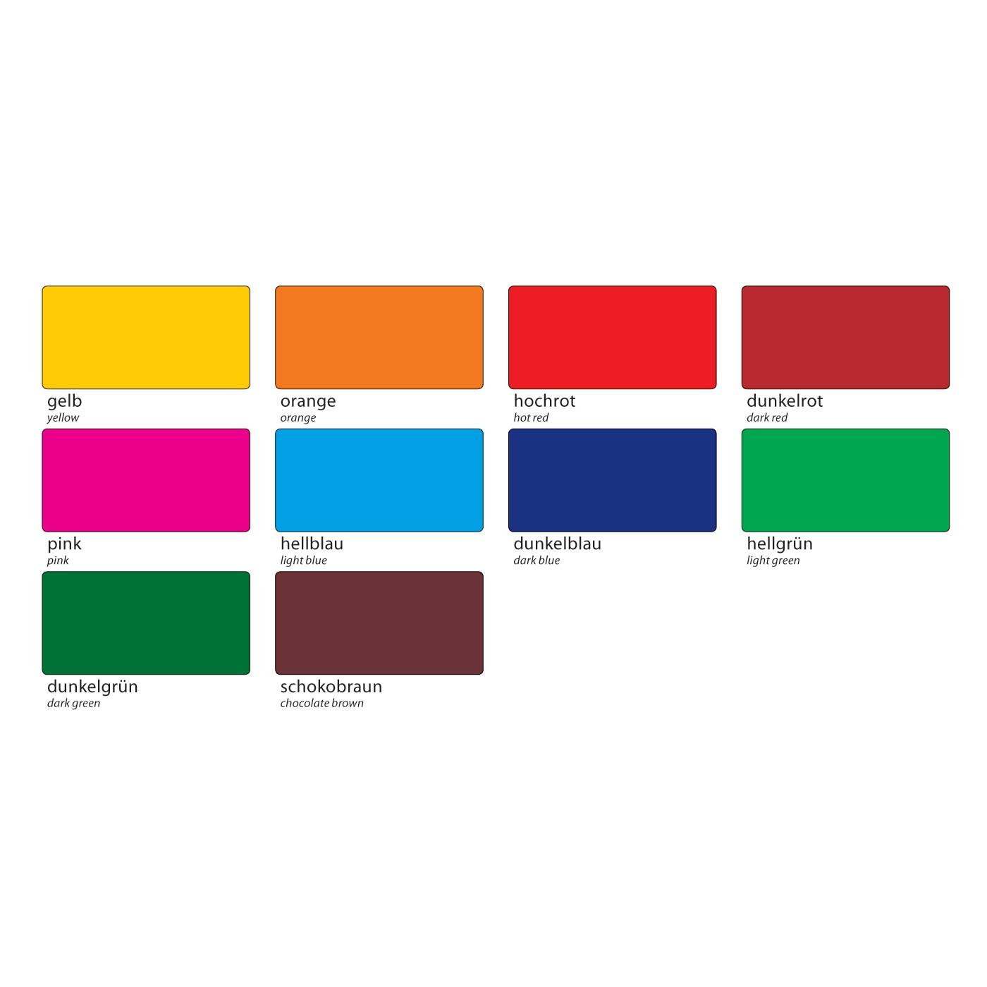fensterfolie 23x33cm selbsthaftend 10 farben 10 bogen von folia g nstig bei mariposa toys kaufen. Black Bedroom Furniture Sets. Home Design Ideas