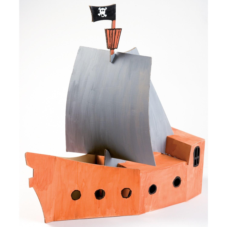white line karton piratenschiff zum aufbauen und bemalen von joypac g nstig bei mariposa toys kaufen. Black Bedroom Furniture Sets. Home Design Ideas