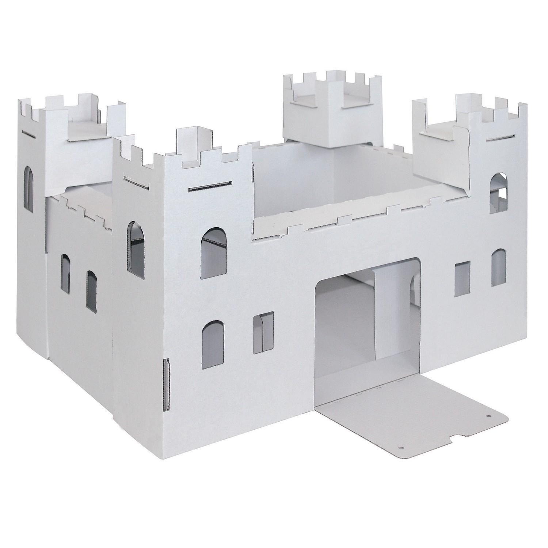 white line karton ritterburg klein zum aufbauen und bemalen von joypac g nstig bei mariposa toys. Black Bedroom Furniture Sets. Home Design Ideas