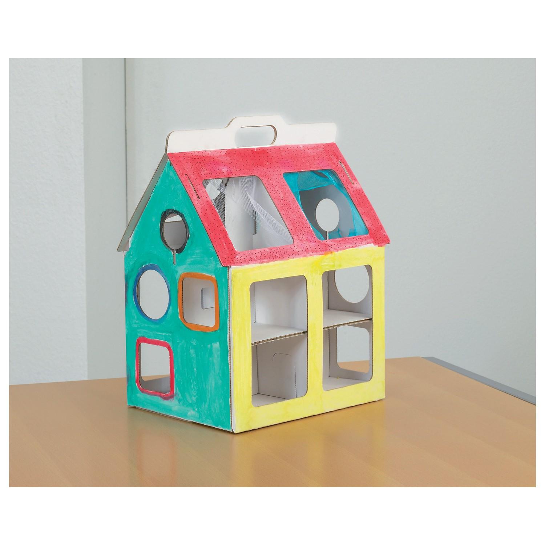 white line karton spielhaus klein zum aufbauen und bemalen von joypac g nstig bei mariposa toys. Black Bedroom Furniture Sets. Home Design Ideas
