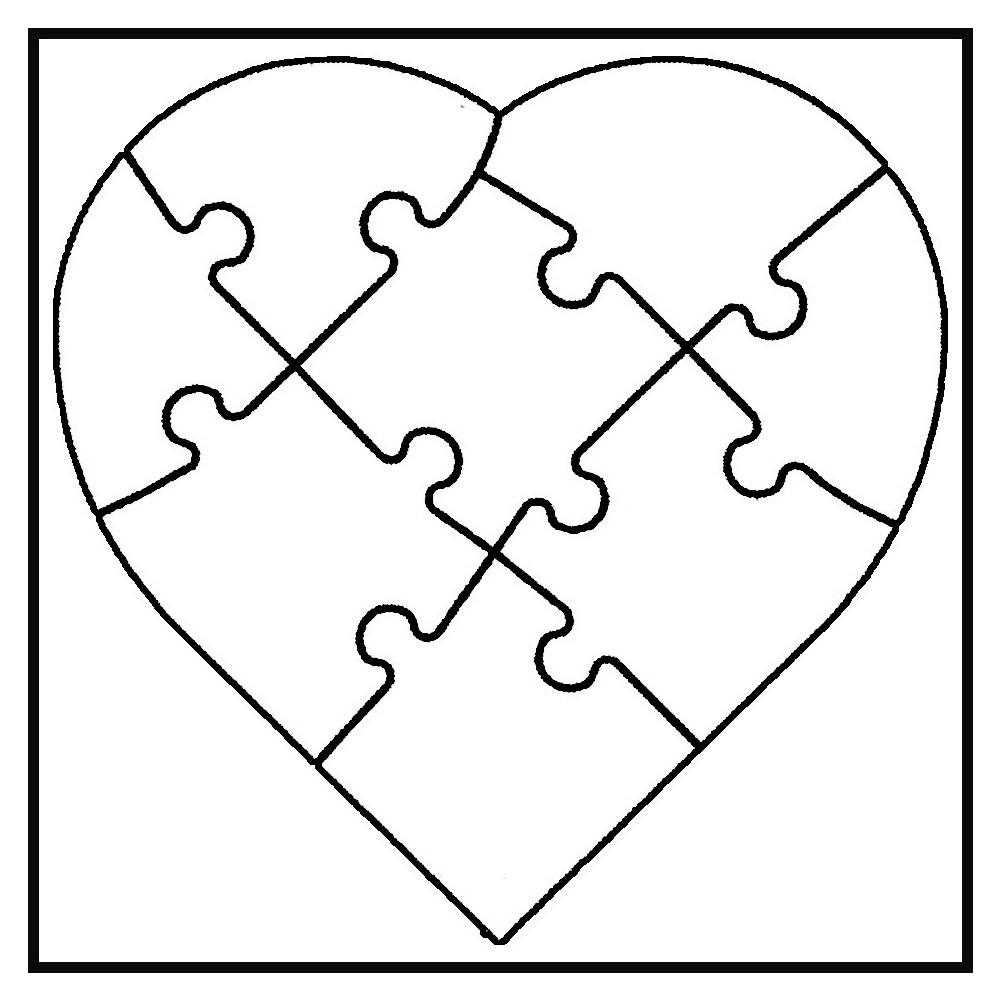white line puzzle herz zum selbst bemalen 6 st ck von joypac g nstig bei mariposa toys kaufen. Black Bedroom Furniture Sets. Home Design Ideas