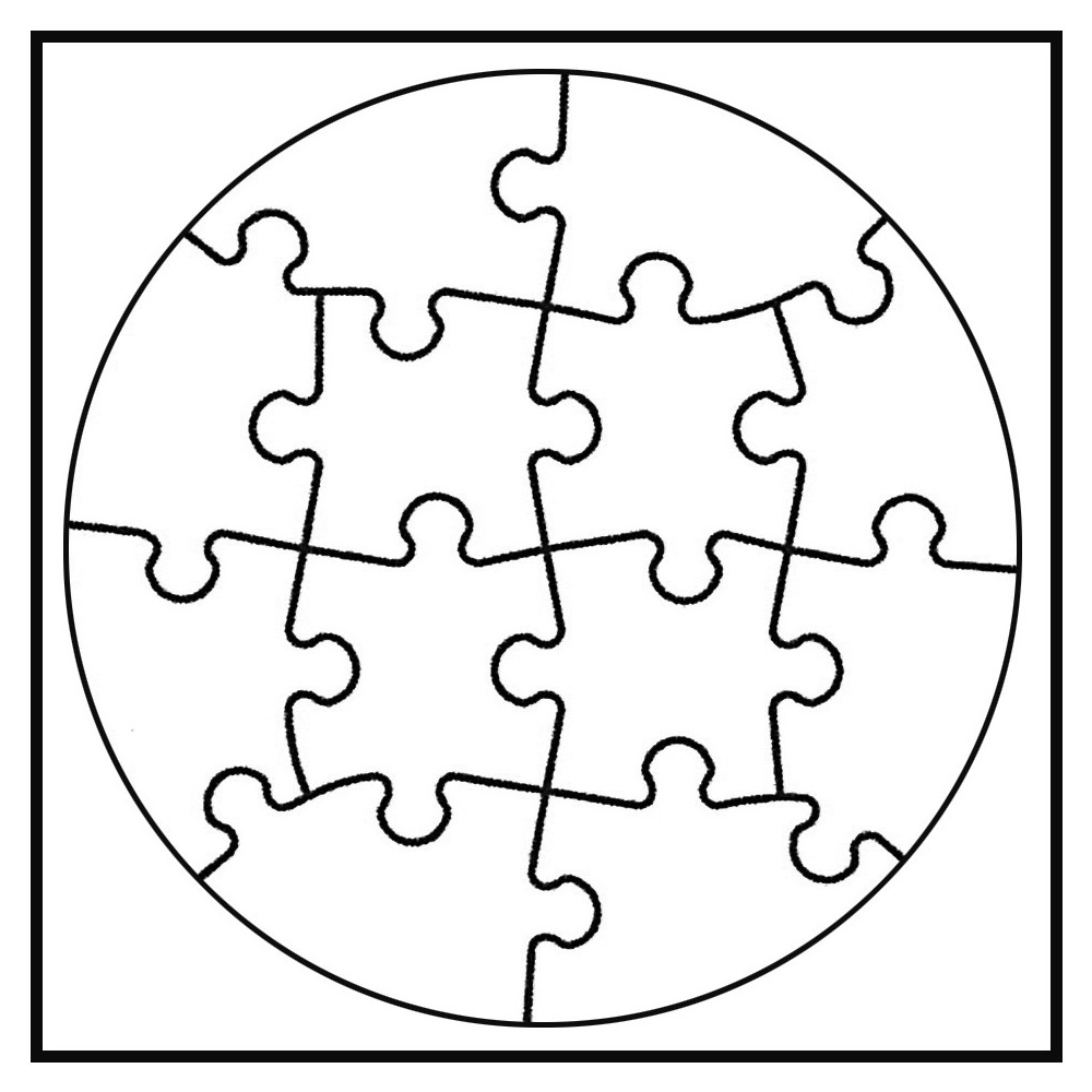 white line puzzle kreis zum selbst bemalen 6 st ck von joypac g nstig bei mariposa toys kaufen. Black Bedroom Furniture Sets. Home Design Ideas