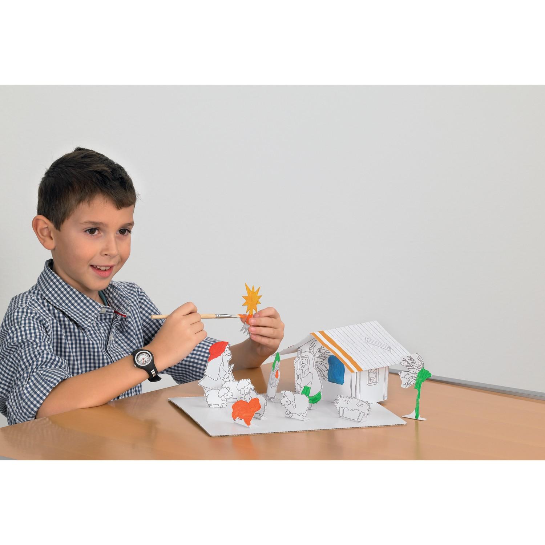 white line karton weihnachtskrippe zum aufbauen und bemalen von joypac g nstig bei mariposa toys. Black Bedroom Furniture Sets. Home Design Ideas