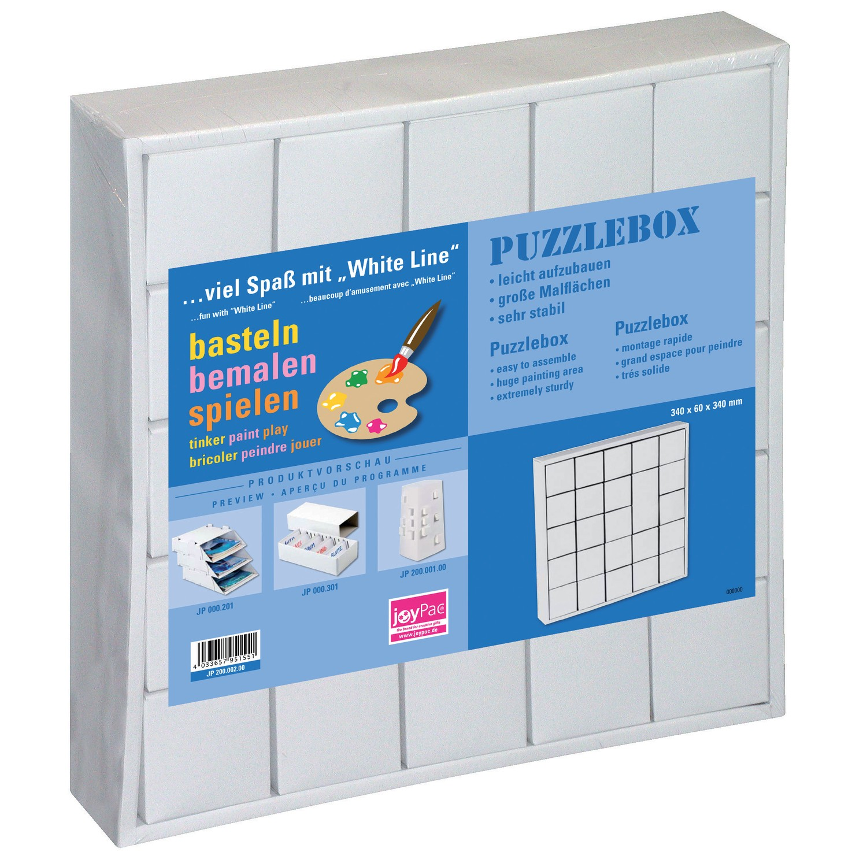 white line kartonadventskalender puzzle box zum bemalen
