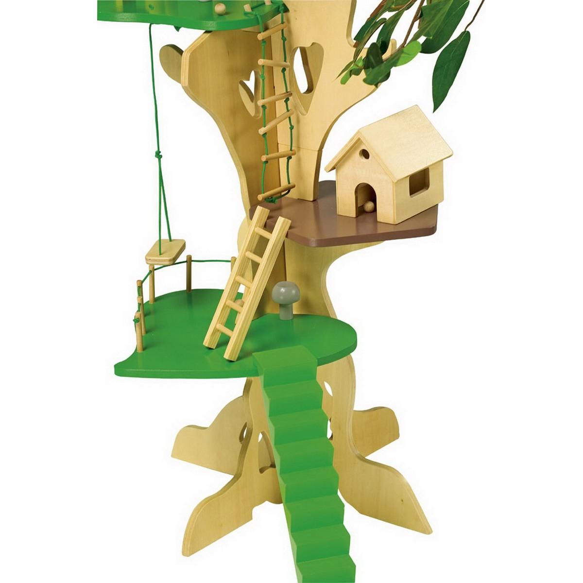 baumhaus aus holz 3 etagen f r kleine puppen von small foot g nstig bei mariposa toys kaufen. Black Bedroom Furniture Sets. Home Design Ideas