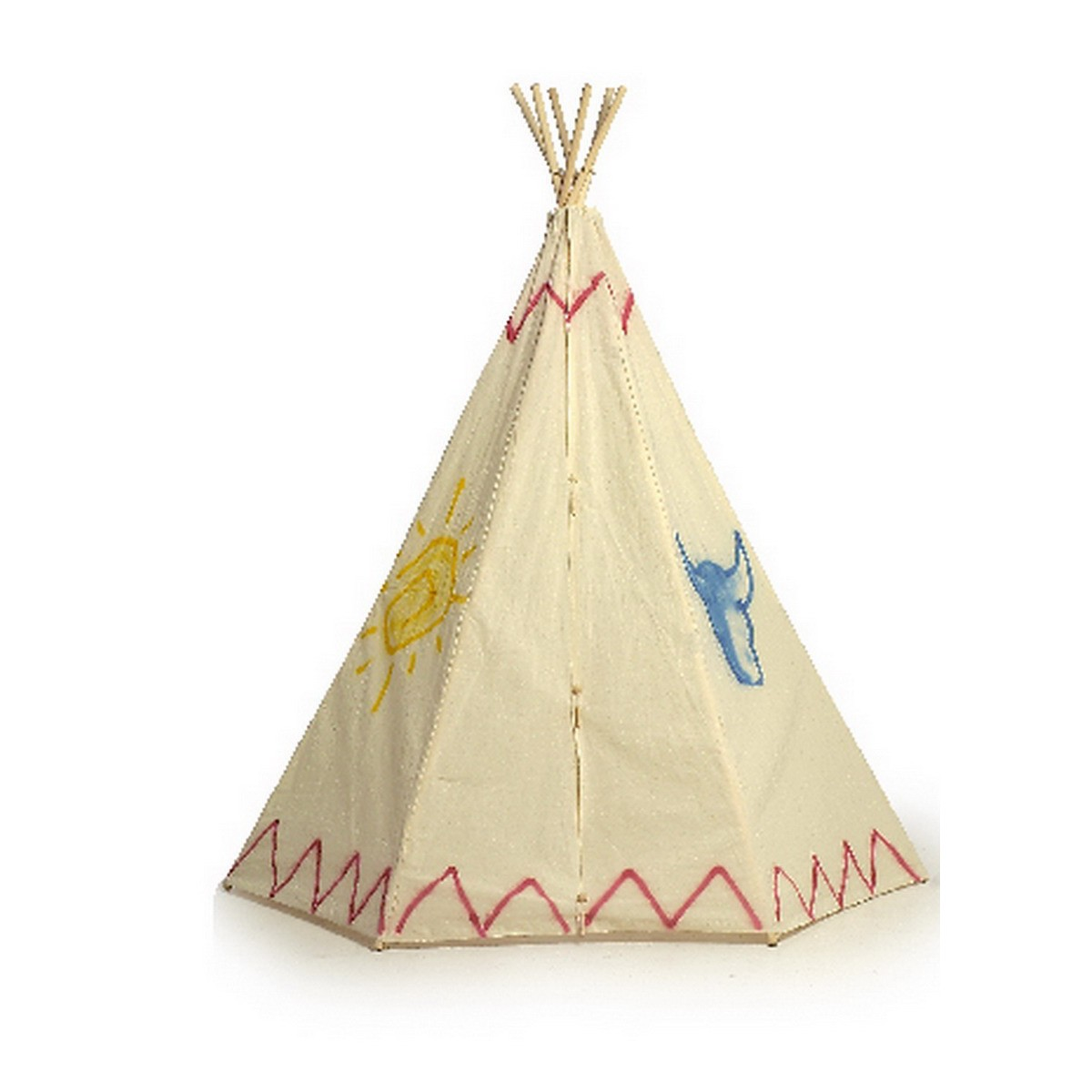 indianerzelt tipi mit bunten motiven von small foot g nstig bei mariposa toys kaufen. Black Bedroom Furniture Sets. Home Design Ideas