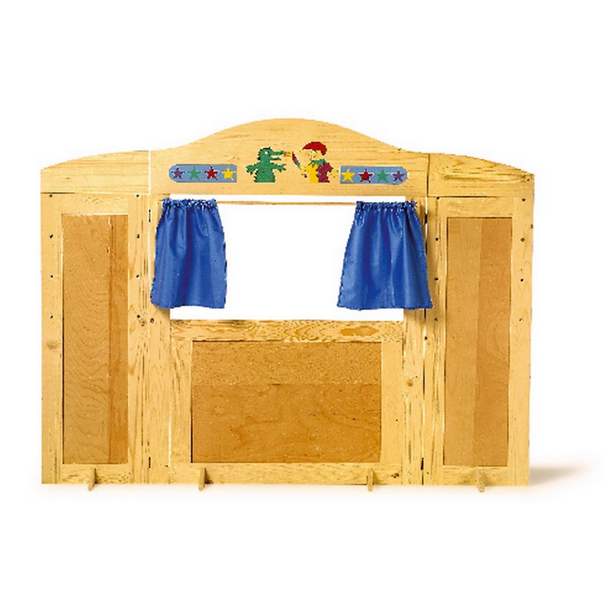 Kaufladen Kasperletheater Holz ~   6952 Kaufladen Vario aus Holz, Tresen und Kasperletheater, mehrfarbig