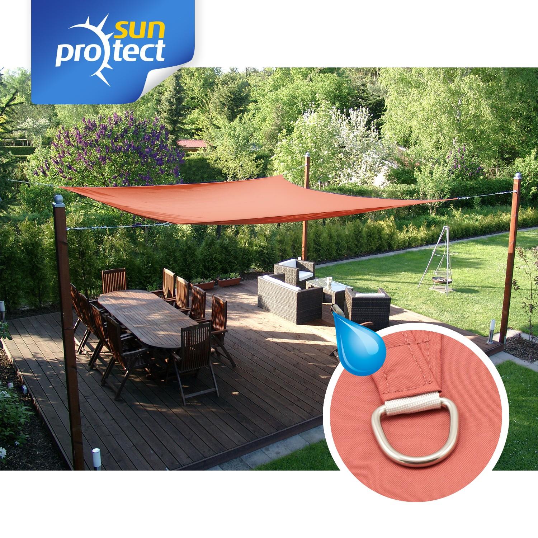Sonnensegel Waterproof 3 5x4 5m Rechteck Rost Von