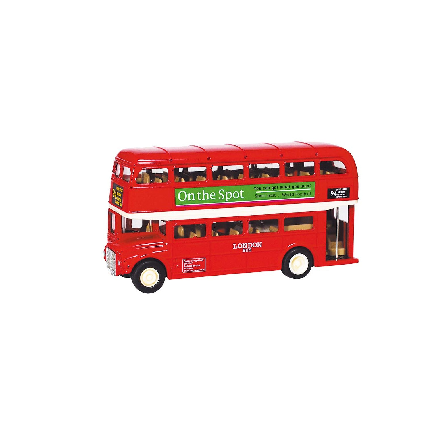 goki london bus aus spritzgu l 12 cm r ckzugmotor von goki g nstig bei mariposa toys kaufen. Black Bedroom Furniture Sets. Home Design Ideas
