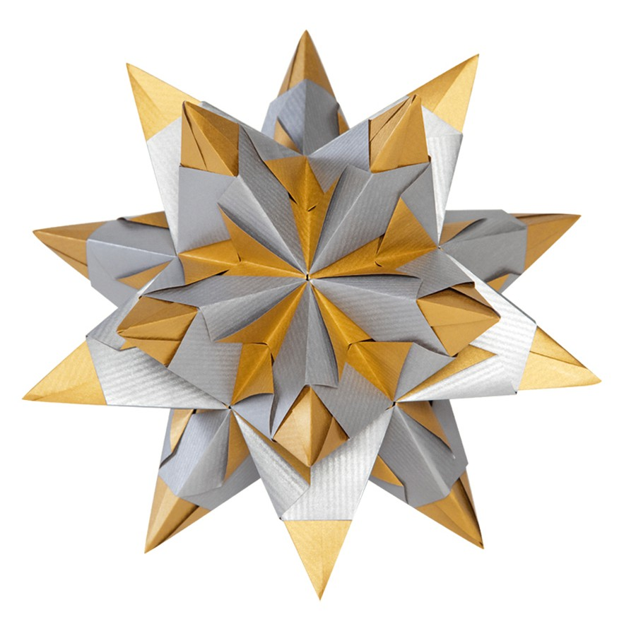 Folia Bascetta Stern Weihnachtsstern 3D Origamistern Faltblätter ...